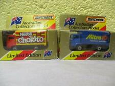Delivery Truck x 2 By Matchbox MB 72, Australian Limited Editions 1:64 Sealed