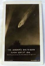 More details for antique  postcard, the airship's dive to death, sept 3rd, 1916. walbrook e. c.