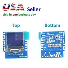 "OLED Shield for WeMos D1 Mini ESP8266 0.66"" in 64X48 IIC I2C NodeMCU Arduino"