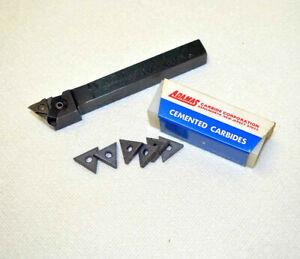Valenite LTMR-8 Indexable Insert Tool Holder + 6 New Adamas TNMG Carbide Inserts