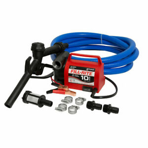 Fill-Rite FR1614 12V 10 GPM Fuel Transfer Pump with Suction and Discharge Hoses