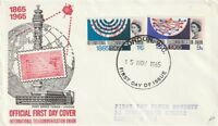 15 NOVEMBER 1965 INT TELECOMMUNICATIONS PHOSPHOR FIRST DAY COVER FDI CANCEL