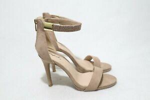 Qupid Size 7 Womens Open Toe Mule Strap Tiny Rhinestone Heels