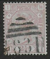 SG141. 2&1/2d. Rosy Mauve Plate 4. FU Condition. Clean Stamp.  Ref:0775