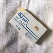 Vtg Oxford Index Cards Yellow 3x5 Sealed 100 Pack Nos Vintage New Usa