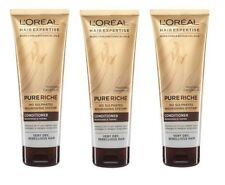 3 x LOREAL 250mL HAIR EXPERTISE PURE RICH CONDITIONER NOURISH and TAME Brand New