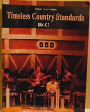 1991 Timeless Country Standards Book 3 Tab Sheet Piano Vocals Chords Song Book