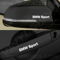 4x BMW Sport Logo Premium Quality Door Handle / Mirror Decals Stickers Alpina M4