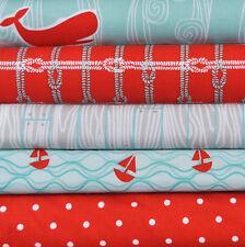 Maritime Modern Aqua 5 Fabric Fat Quarters Bundle, Marin Sutton for Riley Blake