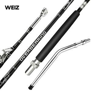 Weiz Custom Fully Rollered 5'0 80LB Overhead Big Game Trolling Boat Fishing Rod