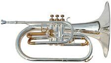 Karl Glaser Marching Mellophon 850L F Stimmung Koffer Mellofon versilbert B-Ware