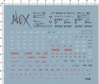 1/100 MG VP ALEX-NT-1 Gundam Model Kit Water Decal