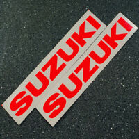 Suzuki 5in 12.7cm neon Red 450 decals 1000 sticker 1100 gsxr 85 rmz 600