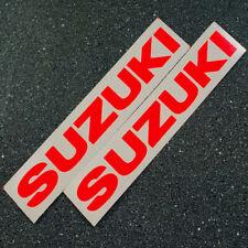 Suzuki 5in 12.7cm neon Red 450 decals 1000 sticker 1100 gsxr 85 rmz 600