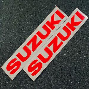 """Suzuki decals 23"""" neon Red LARGE FAST TO SHIP gsxr 600 1000 750 swift 1100 sx4"""