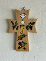 First Communion Cross with Leaves - 5""