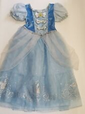 Disney Store Cinderella S 5/6 Blue Gown Dress Up Costume Halloween Princess