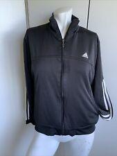New listing Womens large Adidas full zip black long sleeve track style jacket light weight