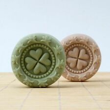 Round Silicone Soap Mold Lucky Clover Aroma Stone Craft Nordic Resin Clay Mould