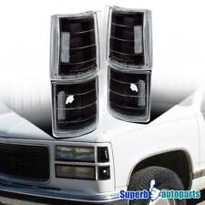 For 1994-1999 C10 Gmc Yukon C/K Black Pickup Corner Turn Signal Lights Lamps