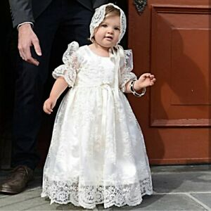 Baby heirloom christening gown white