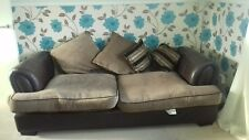 Dark chocolate sofa 2 seater but can sit 3 people, good condition, pick up only