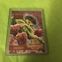 1996 Fleer Ultra Marvel Onslaught Overpower Assault on #2 Hulk Card NM-M