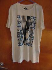 """Quiksilver 100%Cotton Modern Fit 'Legs' T-Shirt M Ch38-41"""" Cream Mix BNWT"""