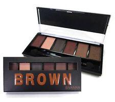 Sivanna Colors Eyeshadow Palette Brown Eye 6 Colors Tone Makeup Cosmetics Nib