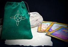 Witches Knot Green VELVET TAROT BAG Wicca pagan Witchcraft Divination