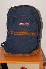 Jansport Blue Leather Bottom Made in USA Backpack