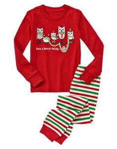 NWT Gymboree GYMMIES Red & Green Owl Holiday Size 4 or 5 Pajamas PJS NEW Xmas