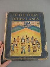 📚 LITTLE FOLKS OF OTHER LANDS 1929 VIBRANT COLOR FRAME WORTHY ILLUSTRATION ART