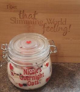 PERSONALISED Slimming World Inspired WW Overnight Oats Breakfast Jar Healthy ExB