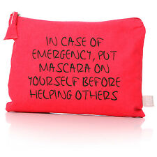 Script hacer up/cosmetics bag/purse-Hot Pink-En Funda De Emergencia.....