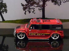 JADA DUB CITY FIRE DEPT 2003 HUMMER H2 IN METALLIC RED 1/64 SCALE DIECAST