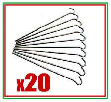 """20 x tente chevilles lourds en acier galvanisé jardin 9 """""""