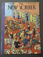 Vintage New Yorker Magazine September 17 1938 - Ilonka Karasz cover art