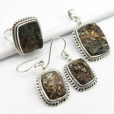 Rare Astrophyllite Ring 10.25, Pendant Earrings 3 Day Delivery Free, 925 Silver