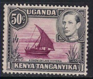 Kenya Uganda Tanganyika 1938 KGV1 50c Black/Purple No Gum SG 144e ( A1388 )
