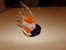 Partylite Angel Fish Tealight Holder Orange/White