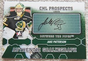 Detroit Red Wings Jake Patterson Signed 2012/13 ITG BTP Goaliegraph Auto Card