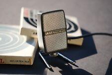 1960 AKAI ADM-1 Dynamic Harp Blues Reel to Reel MICROPHONE Metal Stand