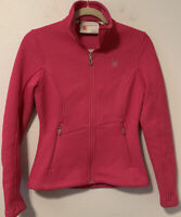 Spyder Women's Pink Endure Full Zip Mid Weight Core Sweater Jacket SZ XS