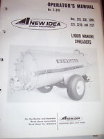 S-191 New Idea Operators Manual for No 203 Power Take-off Manure Spreader