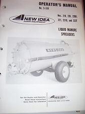 Vintage New Idea Operators Manual -# 219 - 222T Manure Spreader