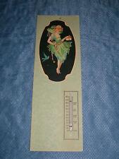 EARLIER 1900S VICTORIAN LADY with  BLUEBIRD TEMPERATURE GAUGE