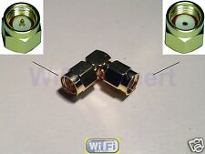 1 x RF Adapter SMA male to RP-SMA male Right Angle RF Connector L Type USA