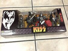 MCFARLANE KISS GENE SIMMONS THE DEMON 3 FIGURE DELUXE BOXED STAGE MUSIC SET 2005