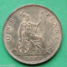 1887 Queen Victoria Penny UNC SNo28712